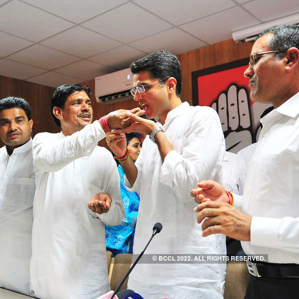 Bypoll results: Celebrations