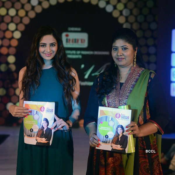 Zoya Afroz And Fareeda Khan Walk The Ramp During International Institute Of Fashion Designing S Annual Graduation Fashion Show Organised At Hyatt Regency In Chennai Photogallery