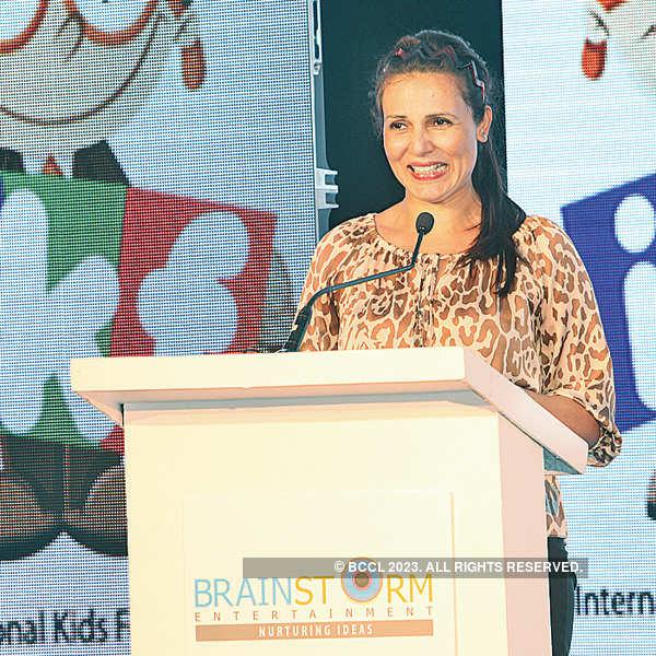Mandira Bedi at a Kids Festival