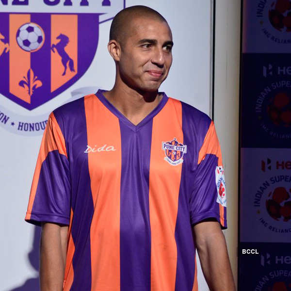 David Trezeguet, FC Pune City footballer, during the unveiling of The Hero Indian Super League 2014 (ISL) trophy in Mumbai - Photogallery