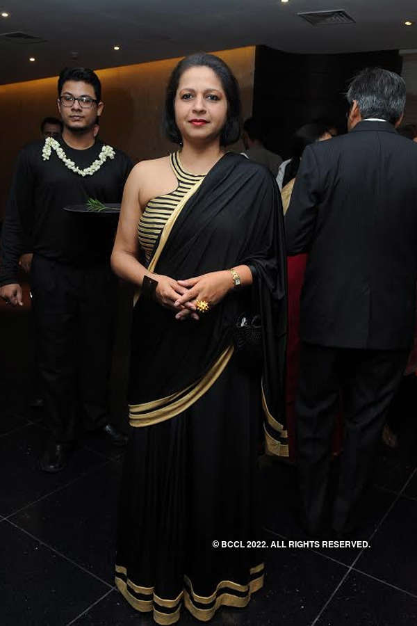 Celebs in black and gold