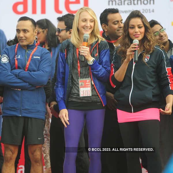 Celebrities cheer Delhi at Half Marathon