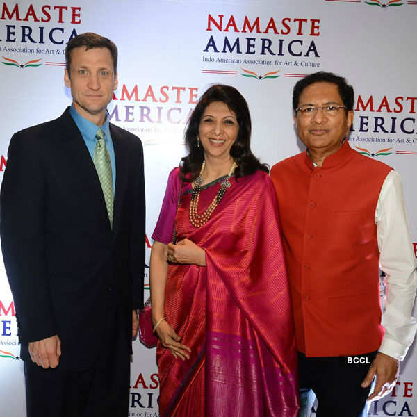 Richa, Boman at Namaste America