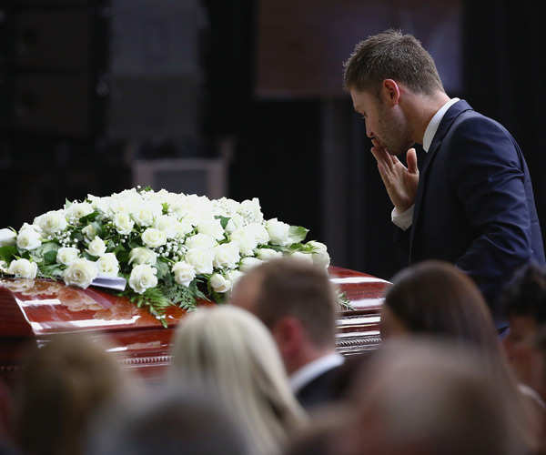 Phil Hughes laid to rest