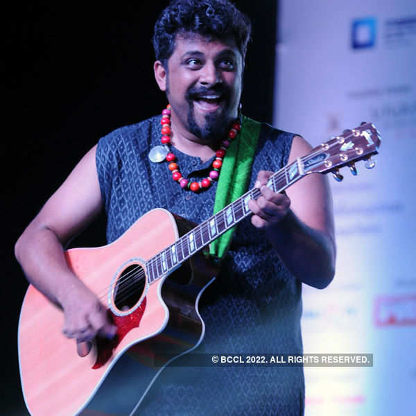 Raghu Dixit performs in Hyderabad