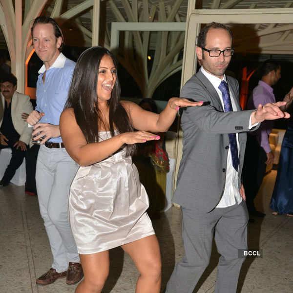 Purbi Joshi & Valentino's reception