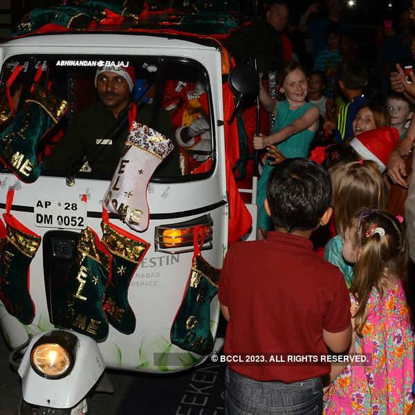 Santa comes @ Christmas celebration