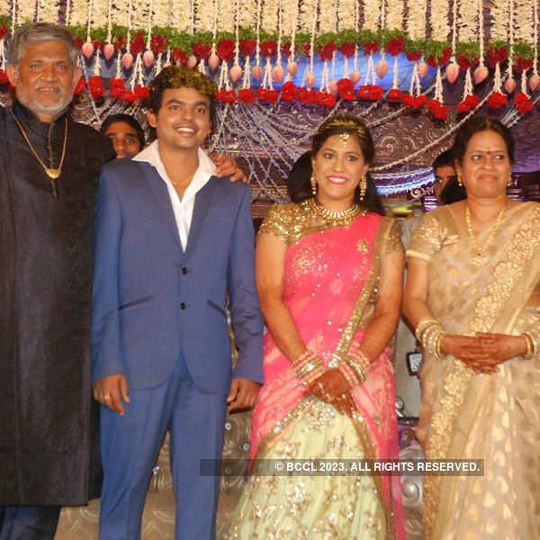 Soundarya and Sai's wedding reception