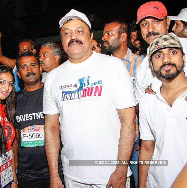 Suresh Gopi spotted at the Marathon