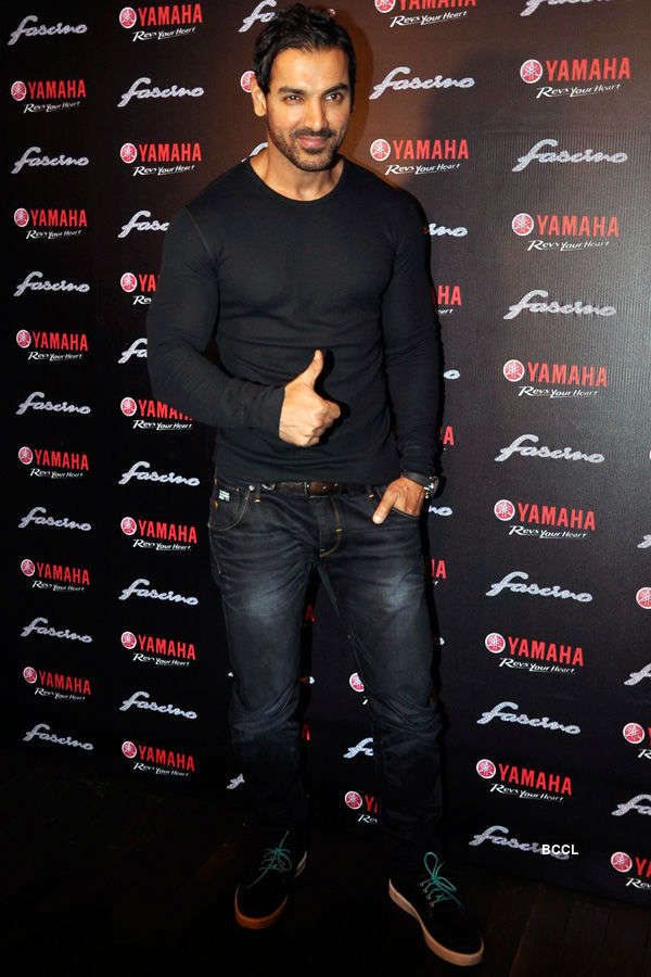 John Abraham launches Yamaha Fascino Calendar