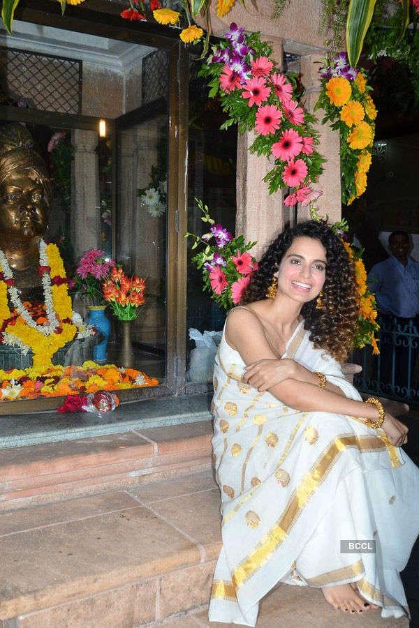 Kangana @ Ramakrishna Mission