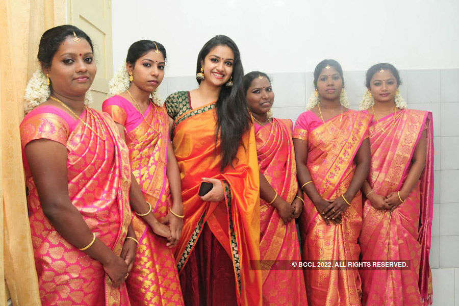 Keerthy Suresh spotted @ a wedding