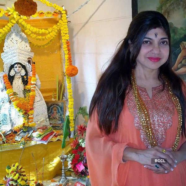 Celebs @ Bappi's Saraswati Puja