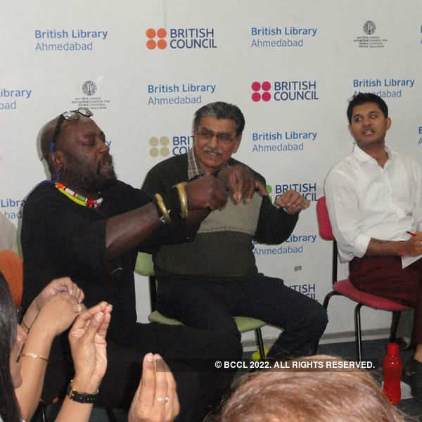UK storyteller Godfrey Duncan in A'dabad