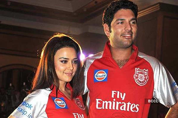 Image result for Yuvraj Singh and Preity Zinta