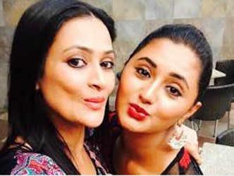 Rashmi Desai and Jaswir Kaur's selfie