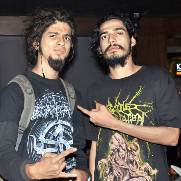 Metal bands perform live in Indore