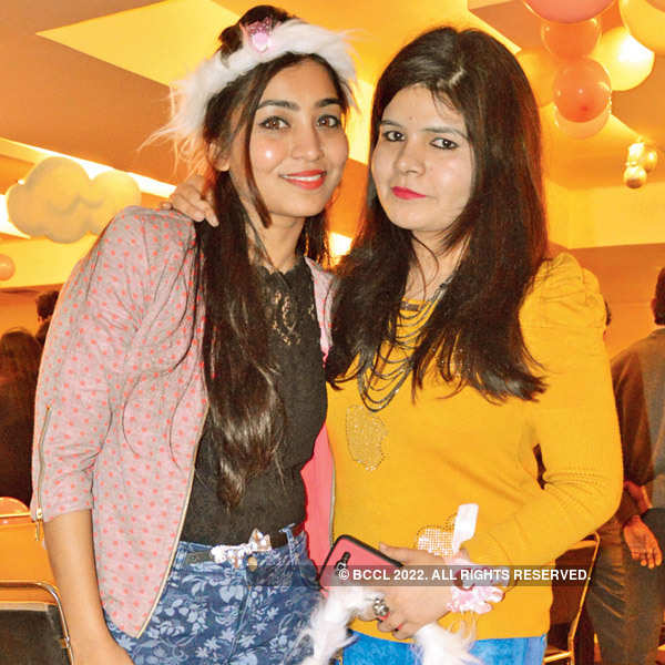 Aahana's first b'day party