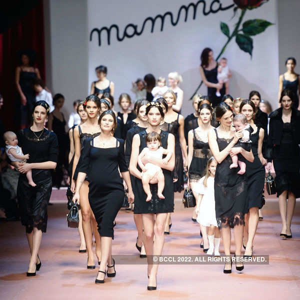 Models showcase motherhood @ the Milan Fashion Week