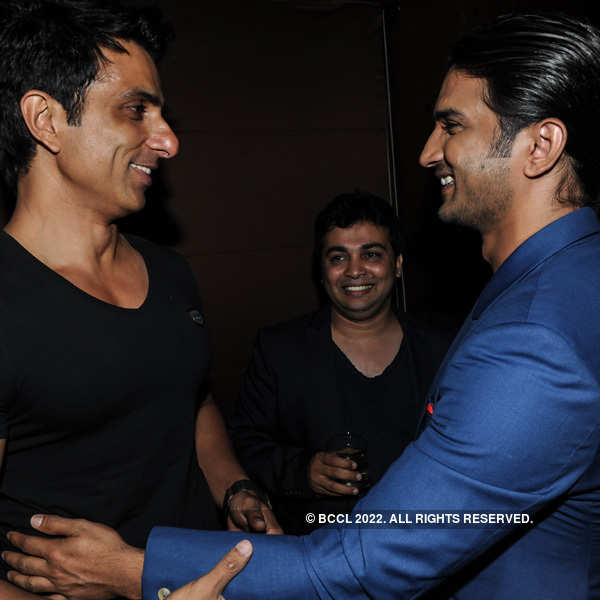 Sonu Sood and Sushant Singh Rajput greet each other during the ...