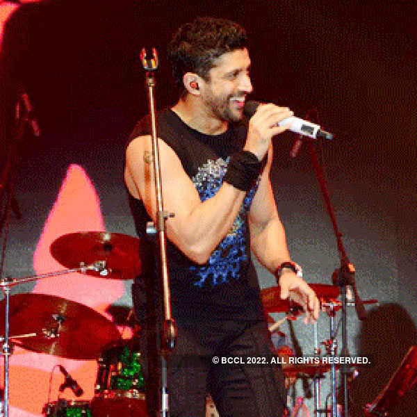 Farhan Akhtar performs live