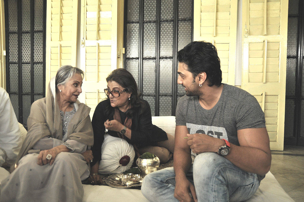 In Pics: Dev, Waheeda Rehman shooting for Arshinagar
