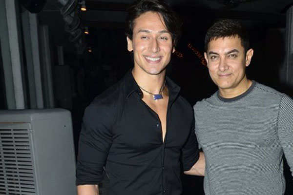 Image result for tiger shroff aamir khan