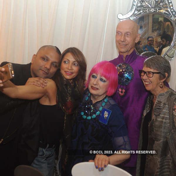 Zandra Rhodes at AIFW party