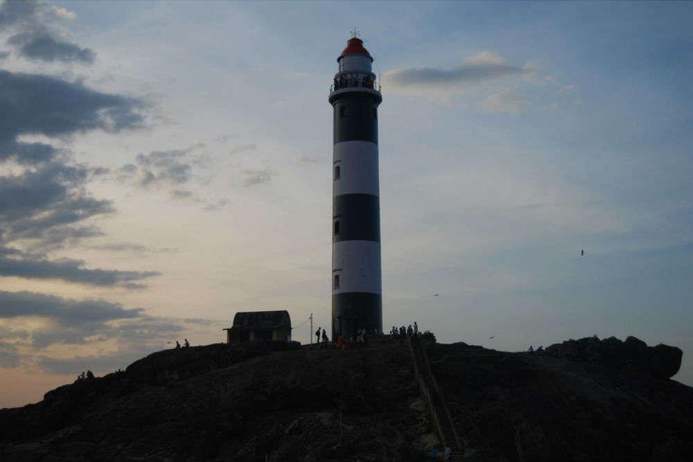 Kaup lighthouse and beach