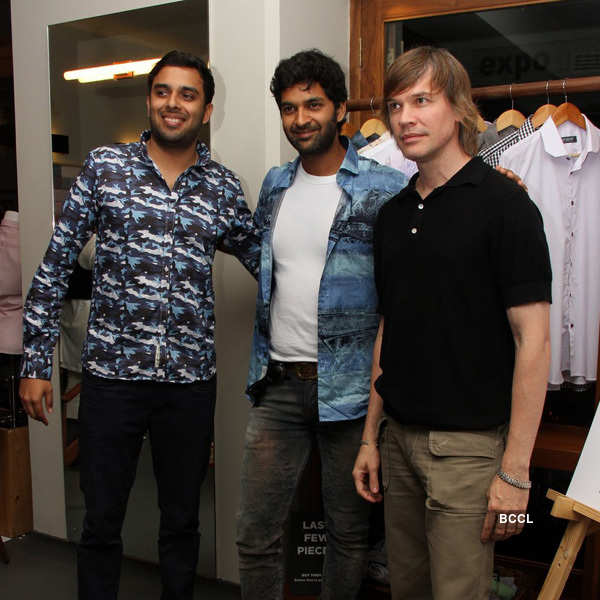 Purab, Luke Kenney at an event