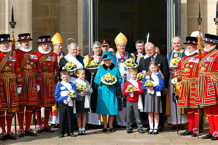 Queen Elizabeth II attends the Royal Maundy Service