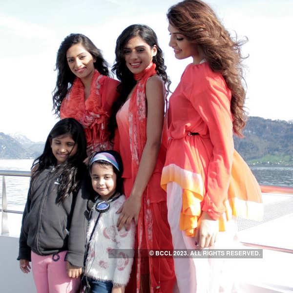 Beauty queens enjoying in Switzerland