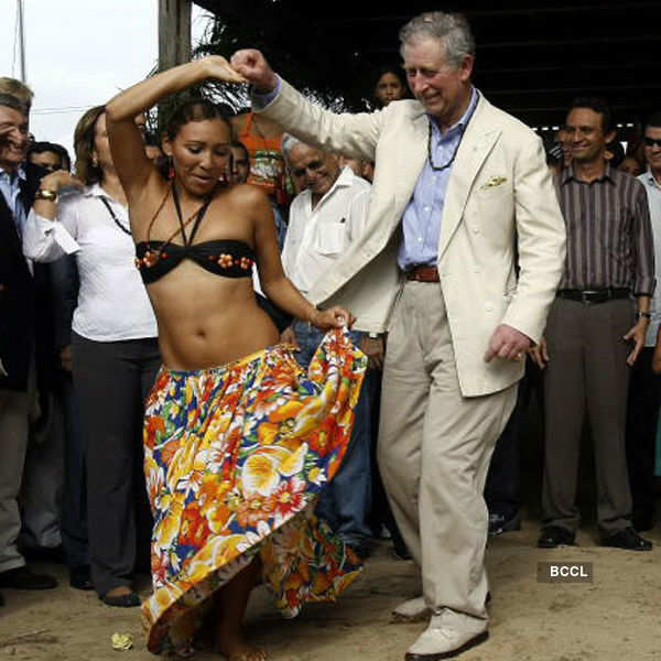 Royals, dancing with the natives