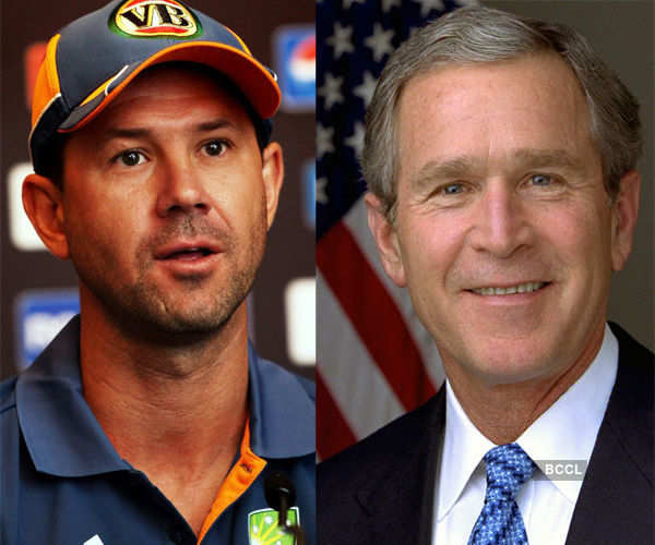 Ricky and politician George W. Bush are pretty similar to each other Photogallery - Times of India
