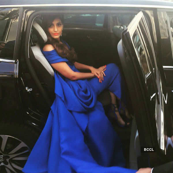 Sonam Kapoor poses during the Cannes Film Festival,- Photogallery  - Times of India