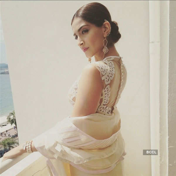 Sonam Kapoor looks angelic during the Cannes- Photogallery  - Times of India