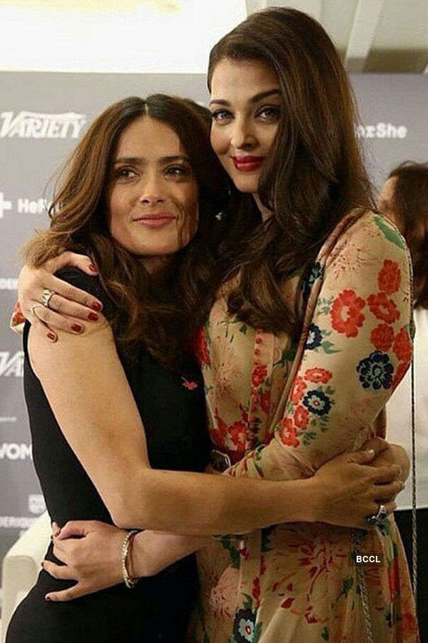 Aishwarya Rai Bachchan shares a warm moment with Salma Hayek - Photogallery  - Times of India