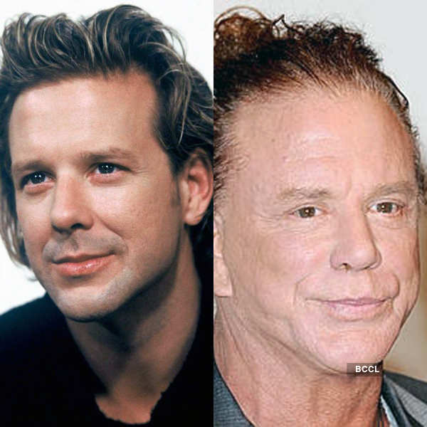 Hollywood actor Mickey Rourke's boxing career almost ruined his handsome face Photogallery - Times of India