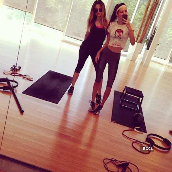 Celebrity Gym Selfies