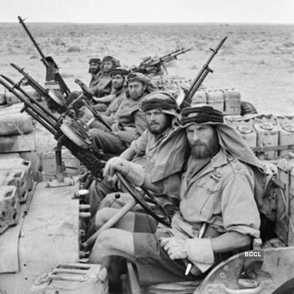 Team British SAS soldiers on their return