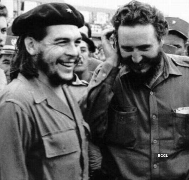 Two legendary Cuban leaders Che Guevara and Fidel Castro