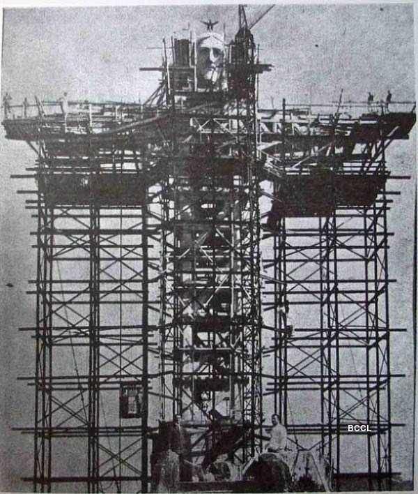 Christ the Redeemer, statue was under construction