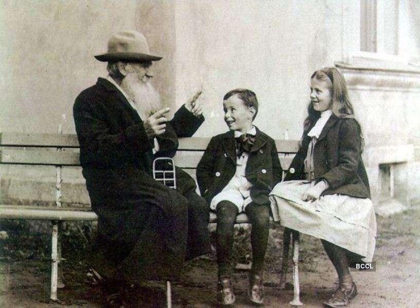 Russian novelist Leo Tolstoy had fourteen children