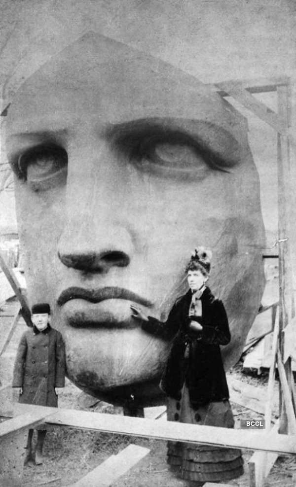 Statue of Liberty was unpacked