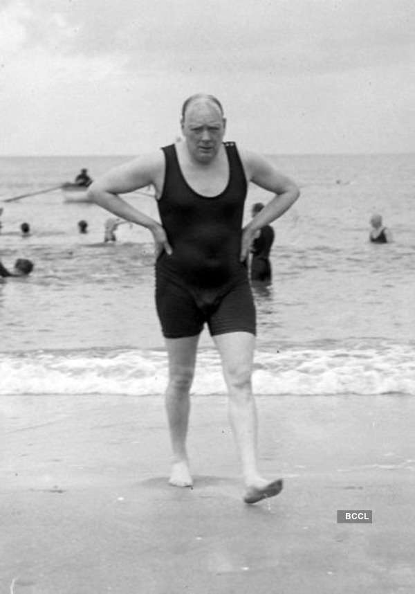 Rare photo of late Prime Minister Winston Churchill