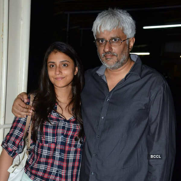 Vikram Bhatt with a guest at the special Photogallery - Times of India