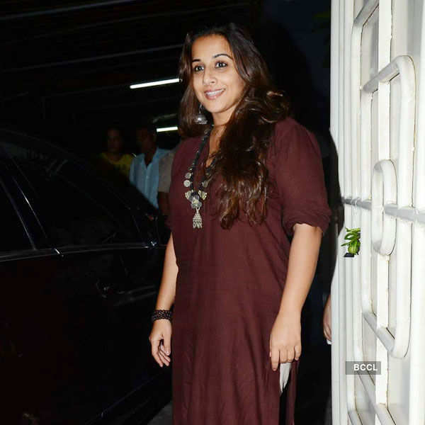 Vidya Balan attends the special screening Photogallery - Times of India