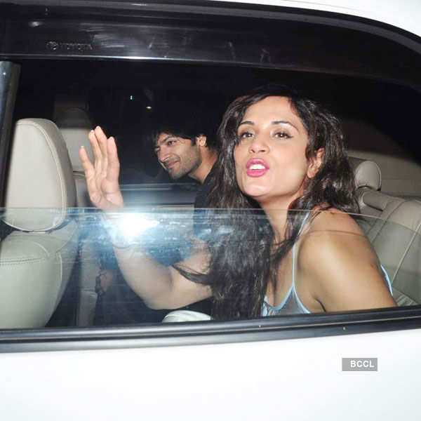 Ali Fazal and Richa Chadha arrive for the special Photogallery - Times of India