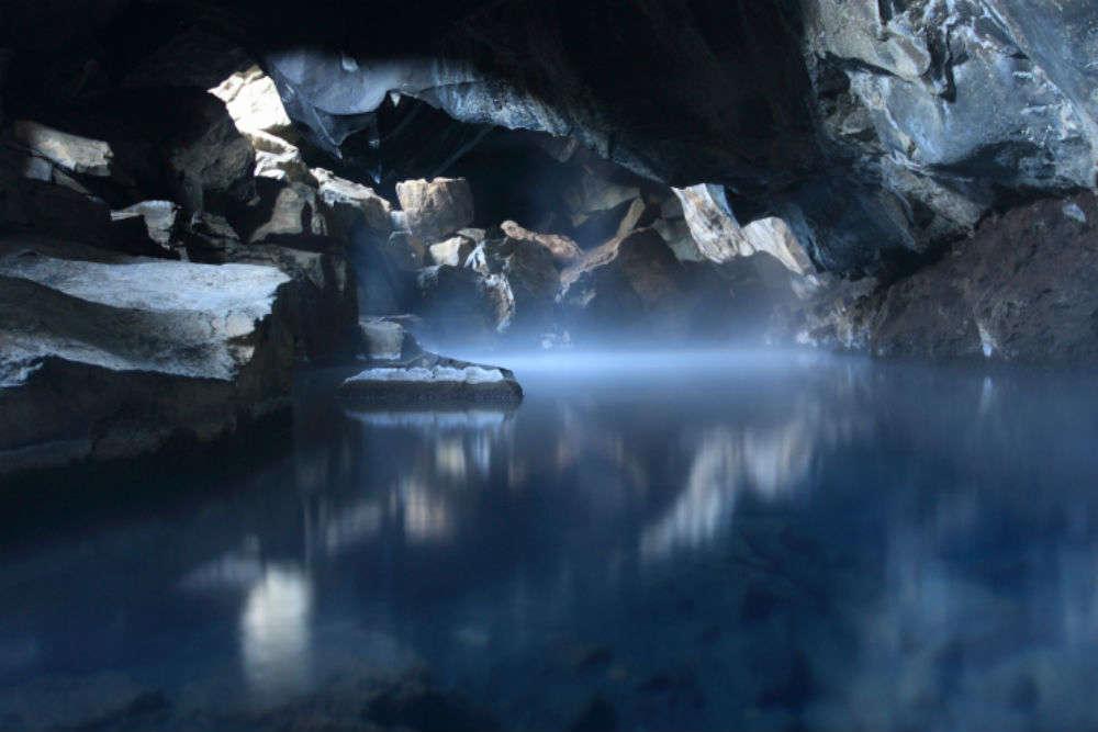 Bathe in a geothermal pool