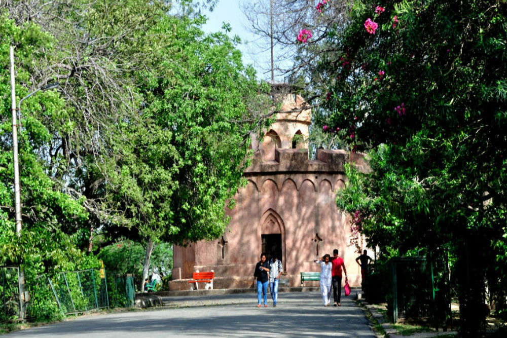Historical spots of North Delhi's Kamla Nehru Ridge